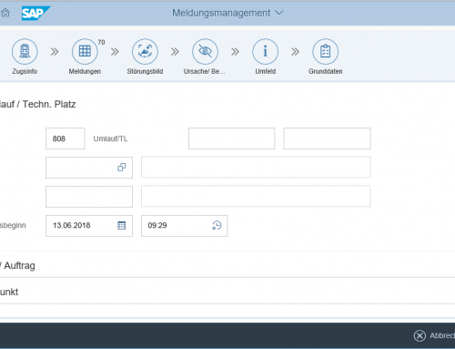 SAP Meldungsmanagement