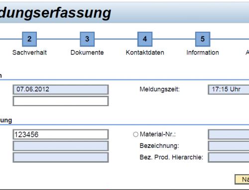SAP Meldungserfassung