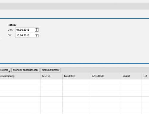SAP Schnittstelle + Monitoring